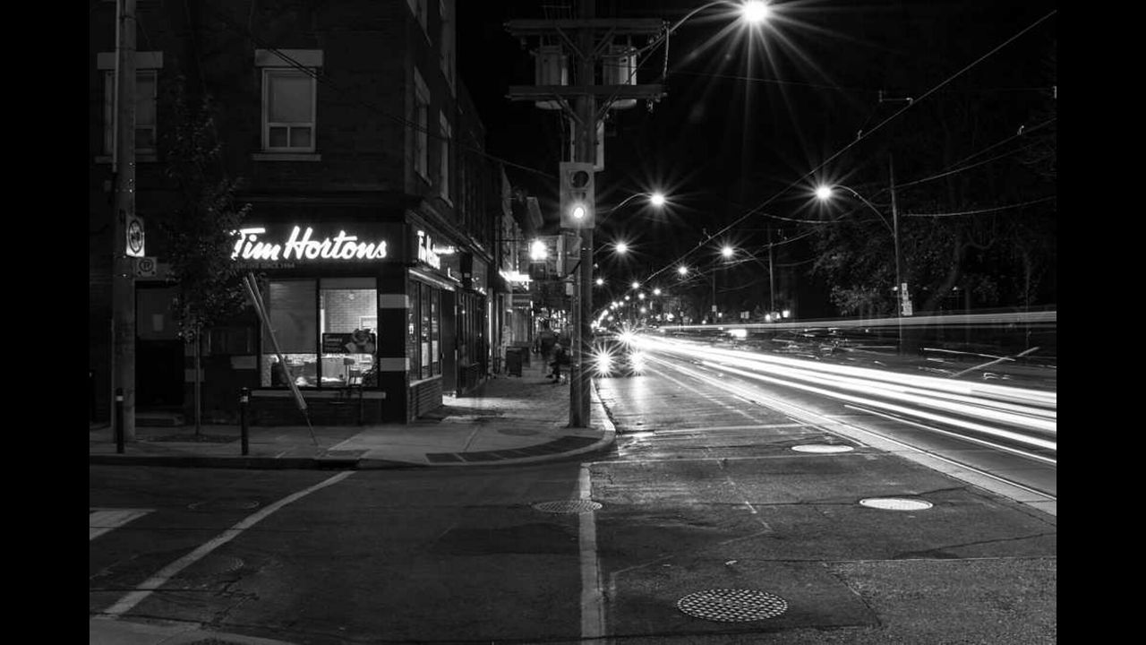 night, illuminated, street, transportation, road, building exterior, street light, architecture, outdoors, built structure, speed, light trail, long exposure, city, high street, no people