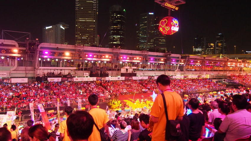 Adult Adults Only Audience Chingay Chingay2017 City Crowd Illuminated Large Group Of People Men Night Nightlife Outdoors People Singapore Spectator Carnival Crowds And Details Carnival Crowds And Details
