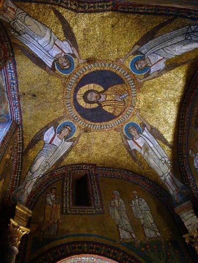 Roma antiqua Architecture Basilica Santa Prassede Built Structure Close-up Day History Indoors  Low Angle View Mosaic Of The Vault Of The Chapel Of San Zeno No People Place Of Worship Religion Spirituality Travel Destinations