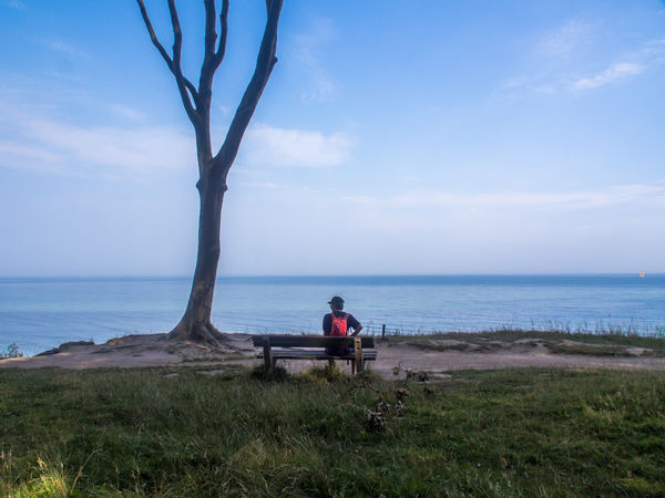 relax Baltic Sea Man View Adult Allone  Beauty In Nature Cloud - Sky Day Full Length Grass Horizon Over Water Leisure Activity Nature North Germany One Man Only One Person Only Men Outdoors People Scenics Sea Sitting Sky Tree Water