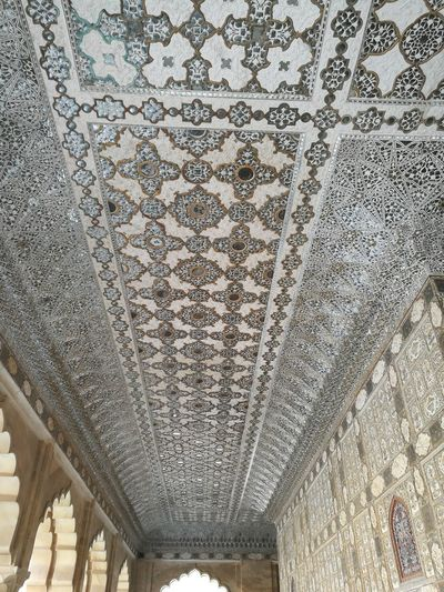 the ceiling in