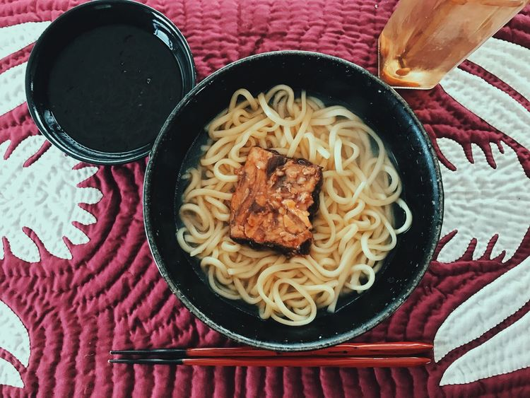 OKINAWA SOBA. Food And Drink Freshness Ready-to-eat Food Bowl Spaghetti Indoors  No People Day Japanese Food Eye4photography  Meal Enjoying A Meal My World Of Food Taking Photos Healthy Eating Enjoying Life Noodles
