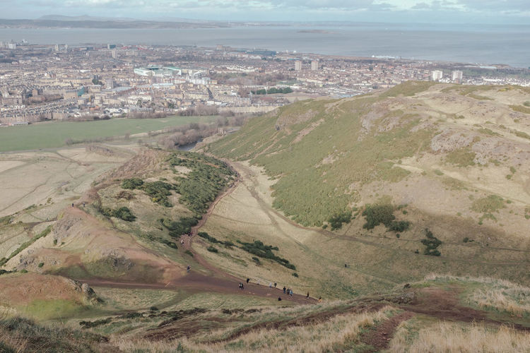 Arthur's Seat Environment Landscape Architecture Building Exterior Day Land High Angle View Built Structure Scenics - Nature Nature City Aerial View No People Outdoors Residential District Building Tranquil Scene Tranquility Plant Beauty In Nature Cityscape