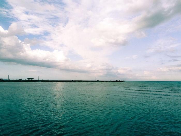 Water Sea Beach Sky Horizon Over Water Cloud - Sky Calm Lakeside Countryside Ocean Mid Distance
