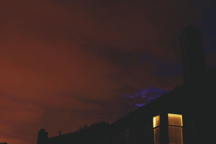 Illuminated Sky Night Low Angle View Orange Color Cloud - Sky Outdoors No People Lightning Storm Lightning And Thunder