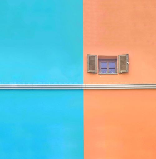 Low Angle View Of Colorful Building