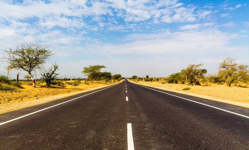 Endless Road Road Transportation Sky Direction Nature No People The Way Forward Outdoors Diminishing Perspective Day Adventure Wanderlust Countryside Thar Desert India Drive Asphalt endlessness Horizon Scenics Summer Tourism Journey Success Achievement Way To Go Home