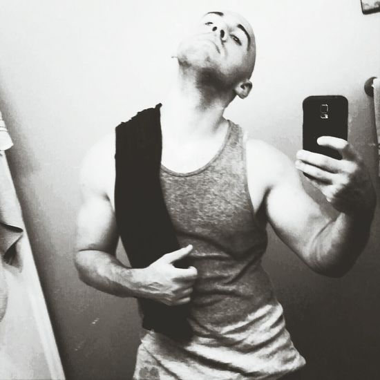 Black & White Gym Post Workout This Was Hard