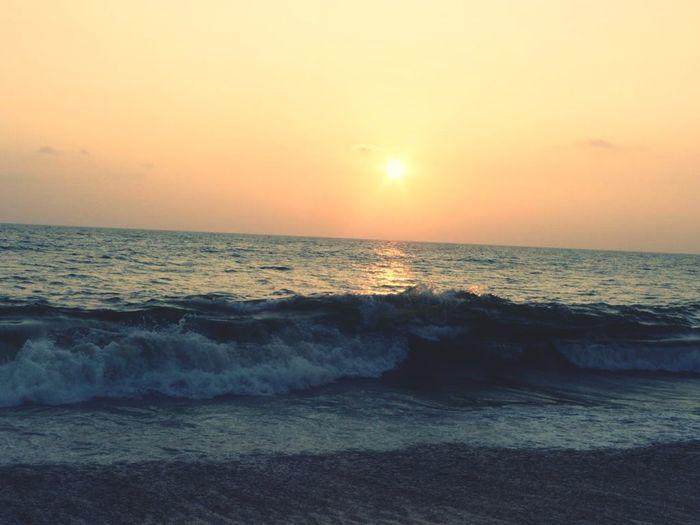Water Wave Sea Sunset Beach Horizon Backgrounds Beauty Sand Sunlight