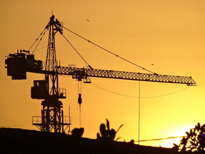 Construction Crane Crane - Construction Machinery Engineering Silhouette Technology