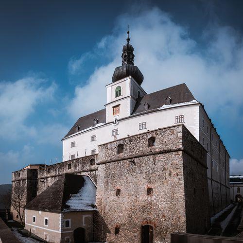 Austria Blue Sky Mediavel Castle Old Sky Austria Castle Burg