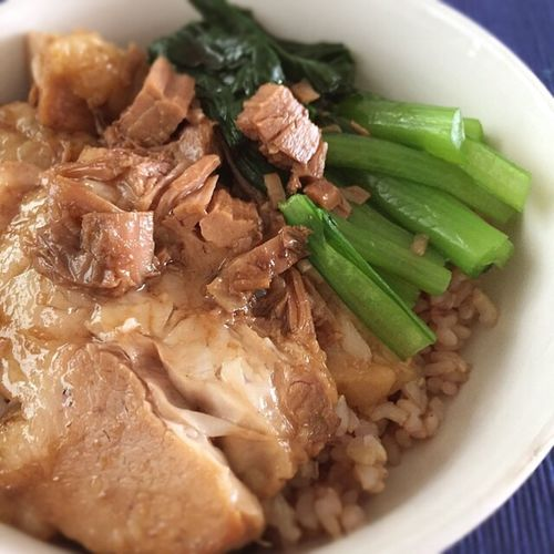 Meal 焼豚 Ricebowl Delicious Sizzling Pork Healthy Eating