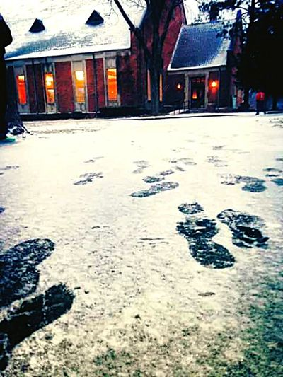 It's Cold Outside Snow Alabama College Sidewalk Winter Outside FootPrintsInTheSnow Relaxing Enjoying Life Hello World