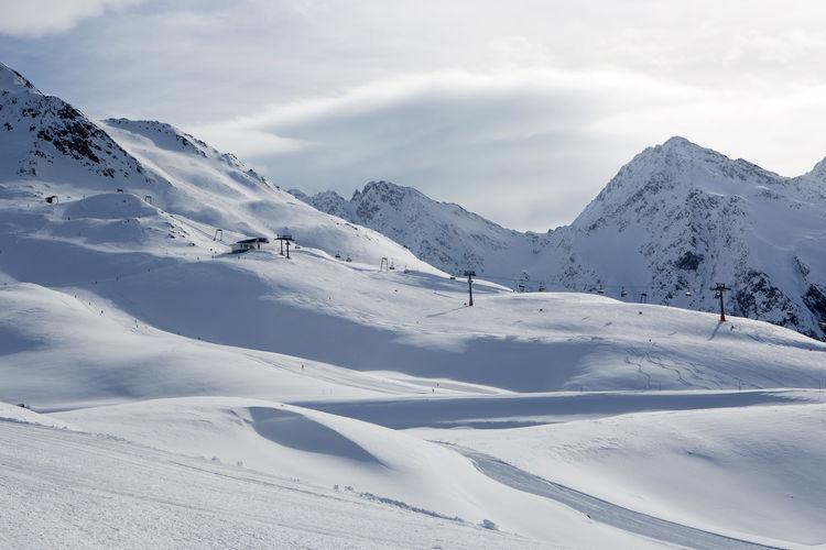 Austria Austria Mountains Austria ❤ Austrian Alps Beauty In Nature Cloud - Sky Cold Temperature Day Landscape Mountain Nature No People Outdoors Scenics Sky Snow Winter