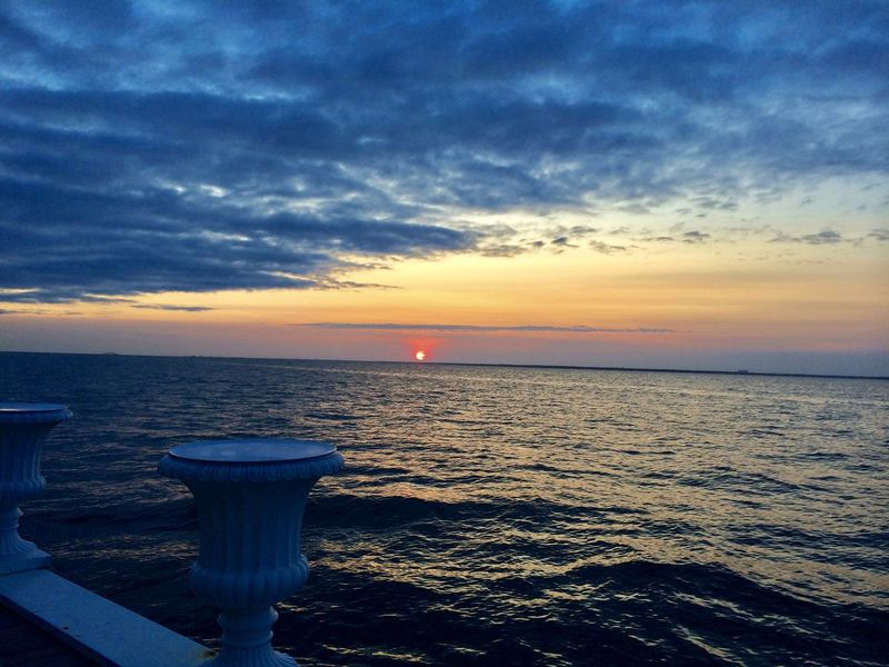 Fire Island NY Beauty In Nature Cloud - Sky Day Demendozaphotography Fire Island Pines Horizon Over Water IPhone Nature No People Outdoors Scenics Sea Sky Sunset Tranquil Scene Tranquility Water