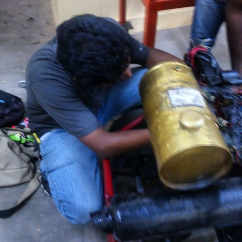 Working Gocart Cars Engines At Night Setting Up The Final Piece In Puzzle  Battery Honda Activa Engines Used