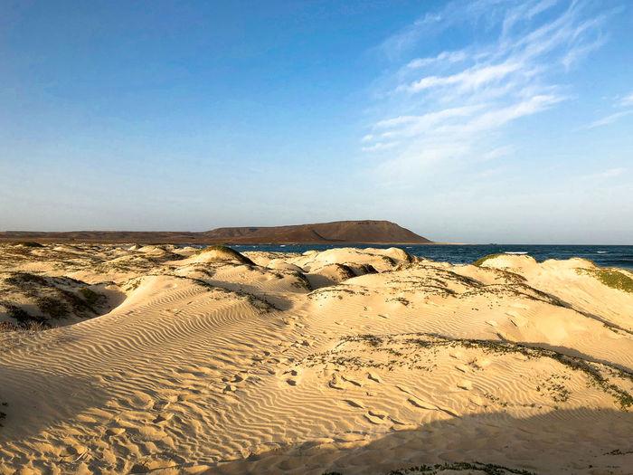 Dunes landscape near Santa Maria, Sal Island, Cabo Verde Sky Scenics - Nature Beauty In Nature Landscape Beach Dunes Sand