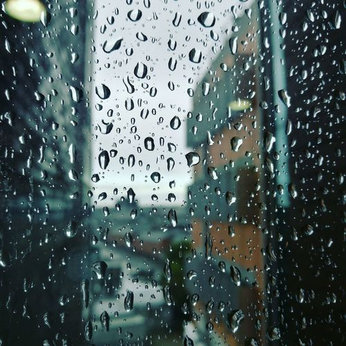 Window Wet Rain Drop Indoors  Day Rainy Autumn Дождь капли капли на стекле капли дождя