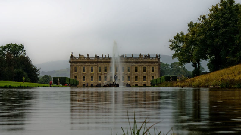 Chatsworth House, Derbyshire Architecture Building Exterior Built Structure Chatsworth Chatsworth House Culture Derbyshire Destination Façade Famous Place Fountain History International Landmark Lake Outdoors Peak District  Pride And Prejudice Tourism