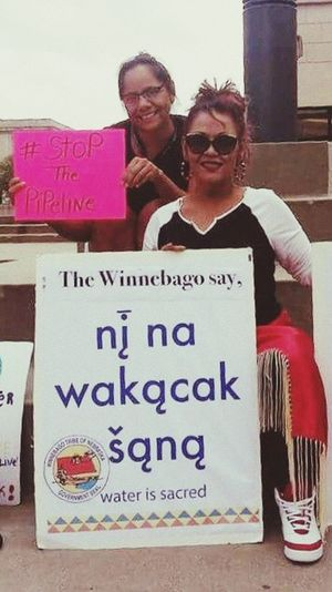 Women Around The World NoDAPL Waterislife Winnebago Sioux Native