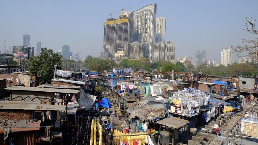 Found On The Roll Dhobi Ghat Laundry Bar in Mumbai, India. Just one of the biggest laundry bars in India. It's a common tourist spot in India. Laundry India Travels