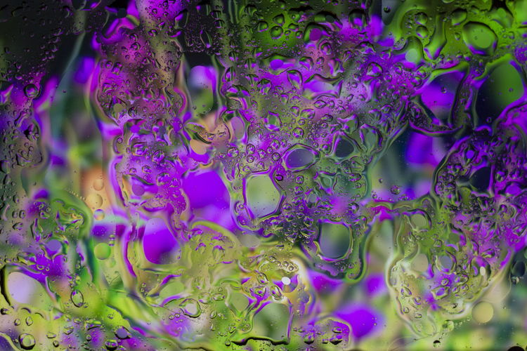 Full frame shot of purple bubbles