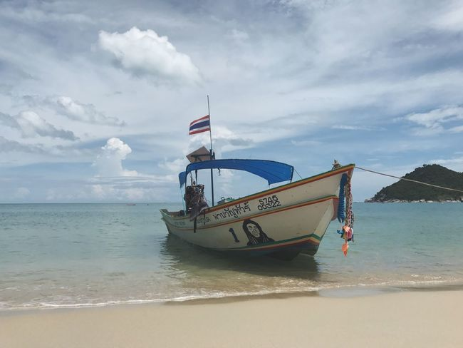 Beach Thailand Beach Thailand Water Transportation Nautical Vessel Mode Of Transport Boat Tranquility