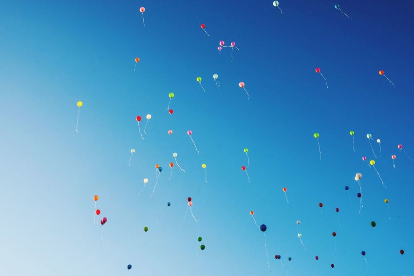 Fly away Balloons Blue Sky Enjoying Life Check This Out EyeEm Best Shots EyeEm Masterclass Exceptional Photographs Tadaa Community Berlin Remembering This Moment Showcase July My Year My View