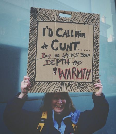 Text Adults Only Only Women People Adult Handwriting  One Person Occupation Protest Protesting