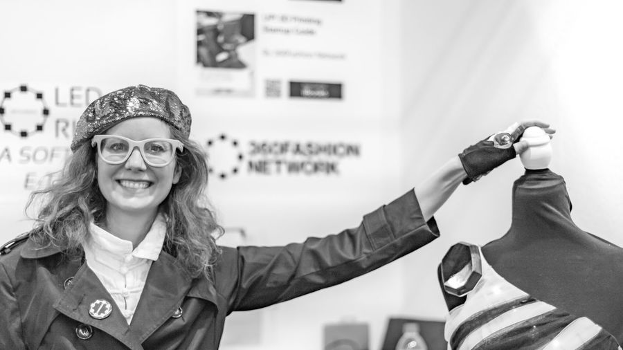 Good Mood | #FBM16 #FBM16 500px Beauty Black & White Black And White Blackandwhite Blackandwhite Photography Buchmesse2016 EyeEm Best Edits EyeEm Best Shots EyeEm Best Shots - Black + White Fashion Fbm16 Frankfurt Happiness Hipster - Person Lifestyles Person Portrait Smiling Street Photography Streetphoto_bw Streetphotography Thisiswhatweshare Young Adult