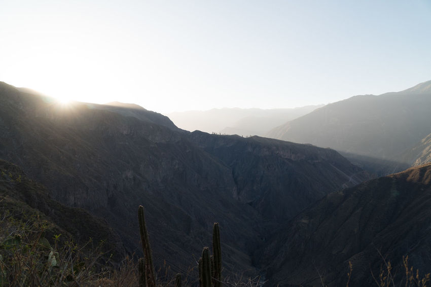Colca Canyon Highlights Colca Canyon Peru Southamerica Canyon Landscape Nature Mountain Sky Scenics - Nature Beauty In Nature Tranquil Scene Tranquility Mountain Range Environment Non-urban Scene Clear Sky No People Day Sunlight Idyllic Land Copy Space Sun Remote Outdoors Mountain Peak Formation