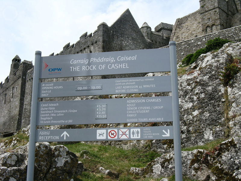 Communication Day Historical Building Information Sign Ireland Irish Nature No People Outdoors Placard Rock Of Cashel Sky Text Travel