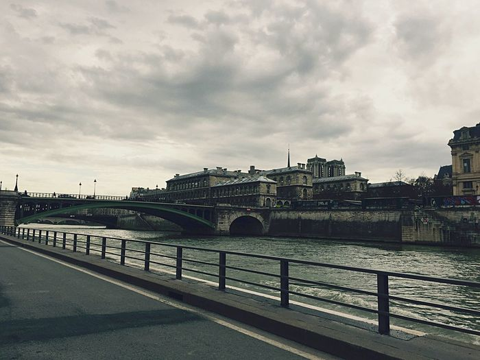 EyeEmNewHere Break The Mold Colours Bridge - Man Made Structure Architecture Built Structure Connection Sky Water River Cloud - Sky Transportation Building Exterior Day City No People Road Outdoors Covered Bridge Cityscape Nature (null)France Paris, France  Beautiful