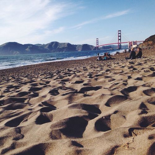 Golden Gate Bridge Beach Life Californian Beach