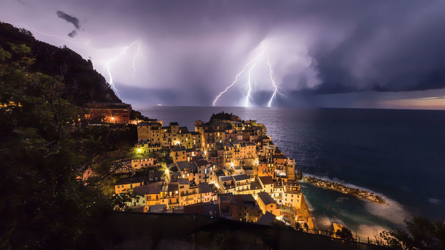 Italy Liguria,Italy Manarola Long Exposure Wide-angle Sky Night Canon Outdoors Professionalphotography Canon 6D Travel Destinations Thunderstorm Clouds Sea Seafoods Landscape Landscape_photography Landscape_Collection Aroundtheworld No People Italianstyle Canonphotography Italy🇮🇹 EyeEmNewHere