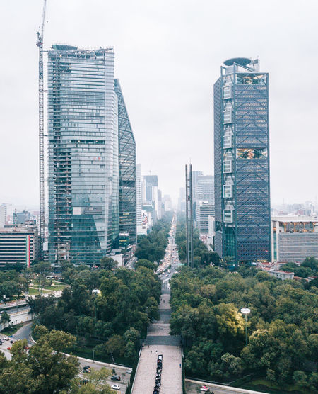 City Cityscape Latin America Mexico Mexico City Modern Architecture Building Exterior Built Structure Daylight