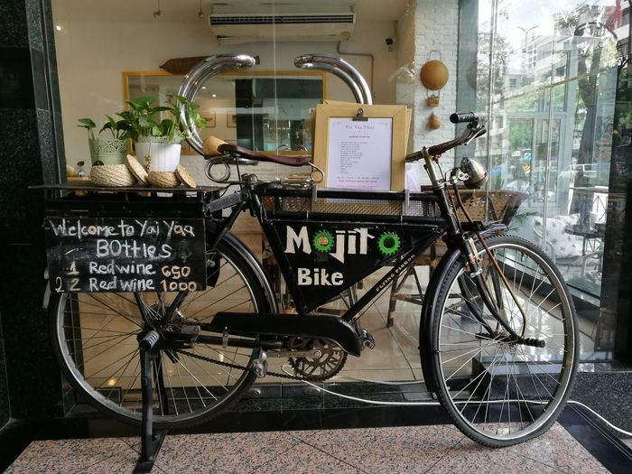 Restaurant Bicycle Transportation Mode Of Transport Land Vehicle Stationary