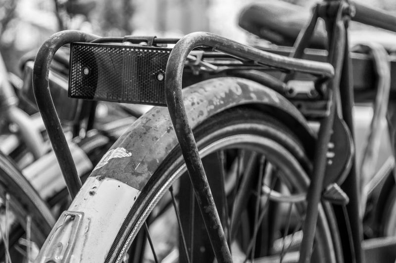 Bicycle Blackandwhite Close-up Cycling Day Metal Mode Of Transport No People Outdoors Pedal Travel Wheel