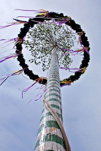 Low Angle View Tall - High Amusement Park Ride Arts Culture And Entertainment Outdoors Crown Cloud - Sky High Up Tradition Maypole