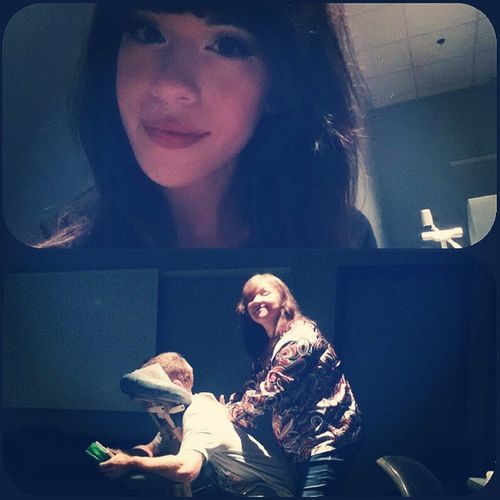 Chair massage this morning with the lovely Vicky for an employment appreciation day. :) Massage Chairmassage Workhardforthemoney