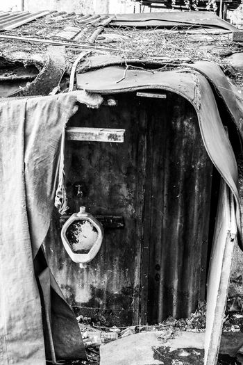 Abandoned Abandoned Places Bad Condition Black & White Black And White Close-up Damaged Day Fujifilm FUJIFILM X-T10 High Contrast No People Outdoors Toilet Transportation Wasiak Weathered The Secret Spaces