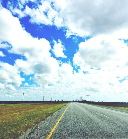 Showcase: February Driving Down The Highway Clouds And Sky Taking Photos