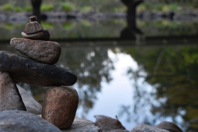Rock Water Rock Tower River Tower