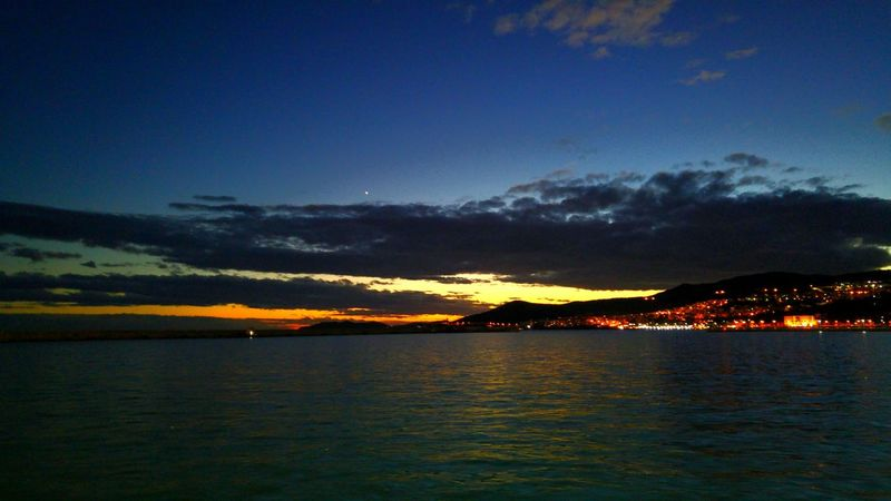 Reflection Night Scenics Sky Outdoors Nature Beauty In Nature No People Reflection Illuminated Greece Beauty In Nature Kavala Light And Reflection. Light And Reflections Harbor Sea Water light and reflection Dramatic Sky Cloud - Sky Sunset Landscape
