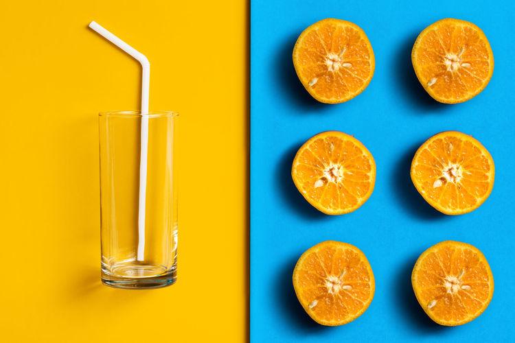 Cut orange on