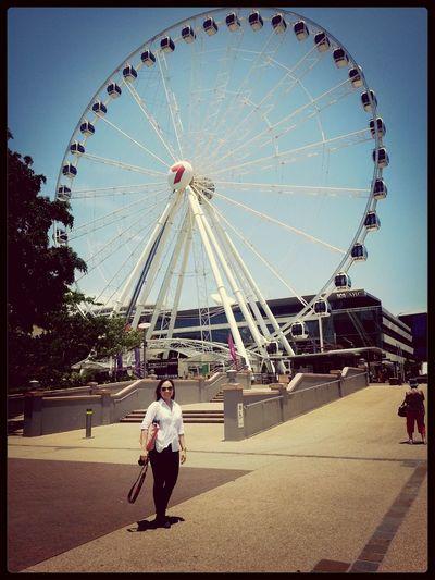 the wheel of Brisbane, Australia Perks Of My Job Lay Over That's Me