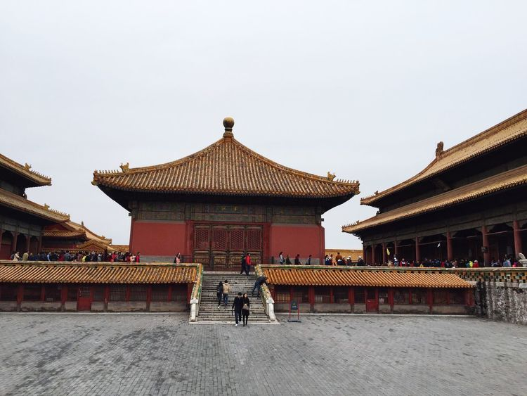 Forbidden City Chinese Architecture Tourists