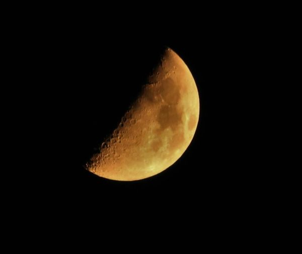 half moon on August night Astronomy August Sky Beauty In Nature Half Moon India Travel Moon Moon Surface Nature Tranquility