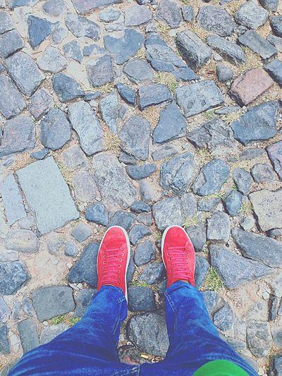 Estrada de pedra, caminhando eu vou 🙏🚶🙌