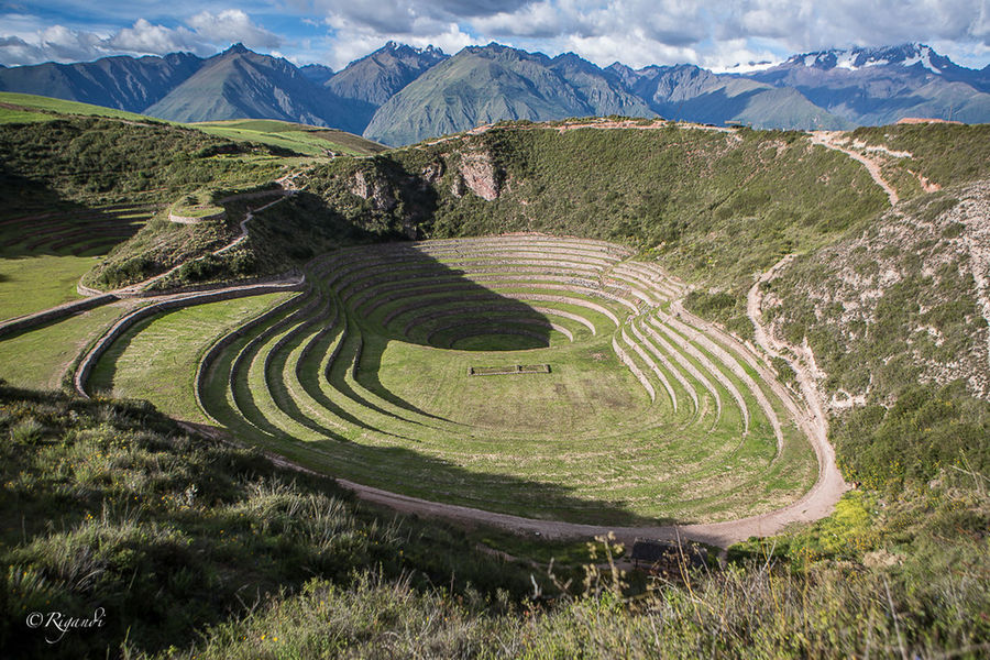 the agronomical experimental field at Maras Moray, where the Incas would test the best crops according to the altitude Agronomy Ancient Cultures Curve Day Mountain Nature No People Outdoors